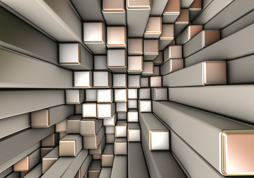 Data Center「Abstract 3d background with different cubes」:スマホ壁紙(2)