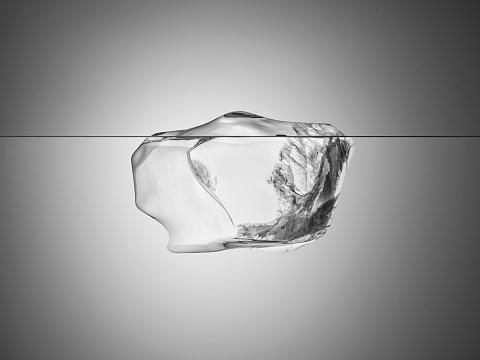 透明「Melting Iceberg」:スマホ壁紙(18)
