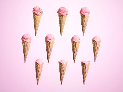 Ice cream「Melting ice cream at different stages」:スマホ壁紙(3)
