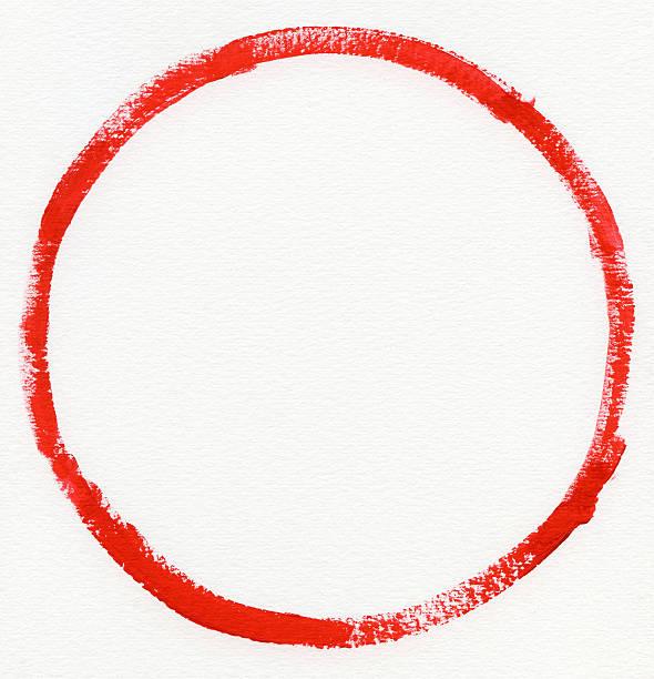 Red zero on Watercolor paper:スマホ壁紙(壁紙.com)