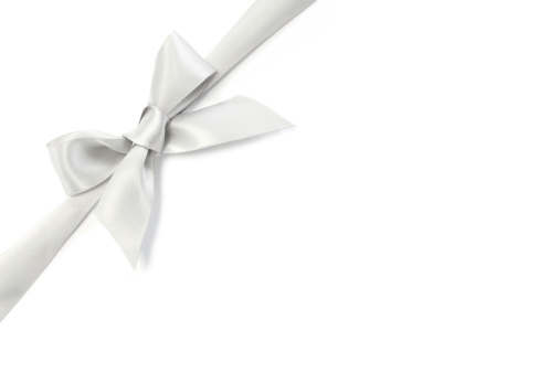 Gift「Silver Ribbon Bow」:スマホ壁紙(4)