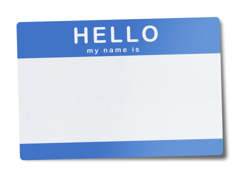 Hello - Single Word「Blank Name Tag (Clipping Path)」:スマホ壁紙(2)