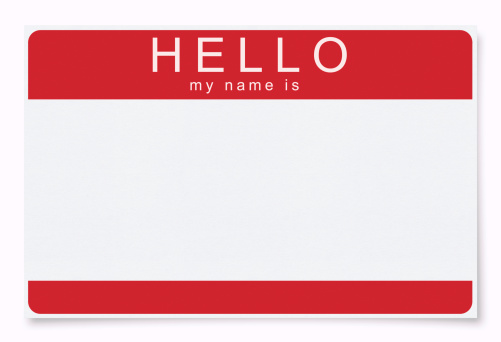 Hello - Single Word「Blank Name Tag (Clipping Path)」:スマホ壁紙(7)
