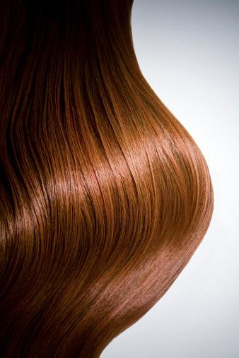 Brown Hair「Shiny red hair on white background, crop.」:スマホ壁紙(12)