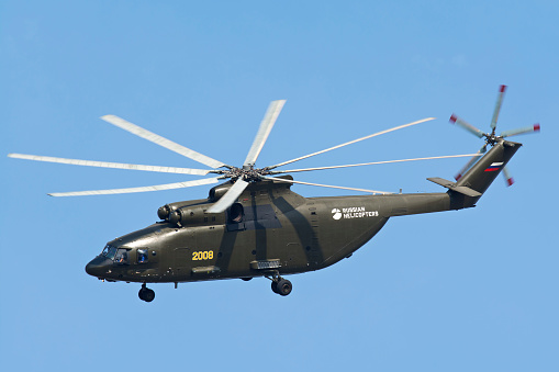 Russian Military「The Mil Mi-26 cargo helicopter in flight over Russia.」:スマホ壁紙(18)