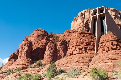 Yavapai County「USA, Arizona, Yavapai county. Sedona, View of Chapel of Holy Cross」:スマホ壁紙(18)