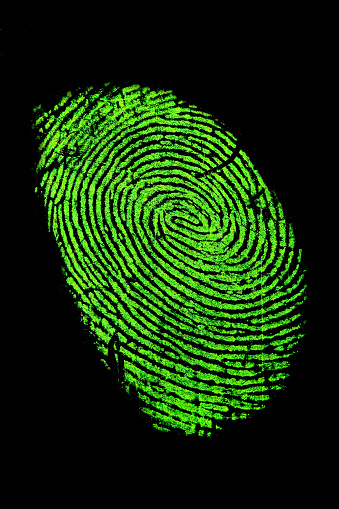 Focus On Background「Fingerprint in green neon for fluorescence」:スマホ壁紙(11)