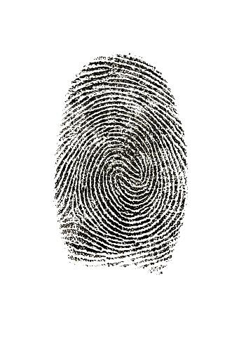 Security System「Fingerprint photographed on white background.」:スマホ壁紙(17)