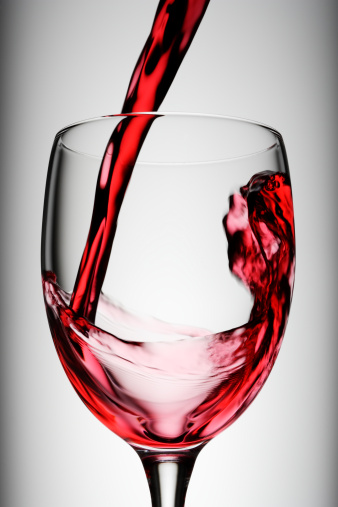 Pouring「Red wine being poured into glass, studio shot」:スマホ壁紙(14)
