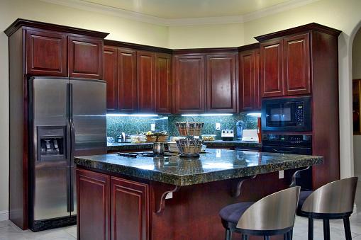 Mahogany「Luxury Kitchen Interior」:スマホ壁紙(7)