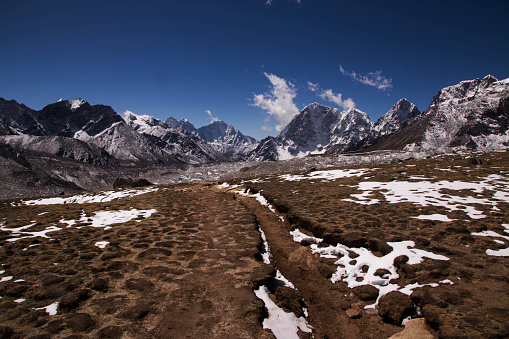 Khumbu「Everest range south panorama from Kala Patthar, Gorak Shep in the foreground, Everest Base Camp Trek, Nepal」:スマホ壁紙(1)