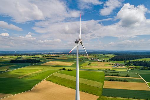 Efficiency「Wind turbine high angle view」:スマホ壁紙(8)