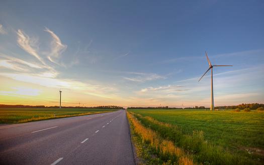 Generator「Wind turbines in field」:スマホ壁紙(3)