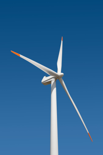 Wind Turbine「Wind turbine against blue sky」:スマホ壁紙(1)