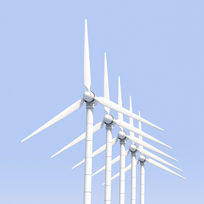 Wind Turbine「wind turbines in a row」:スマホ壁紙(11)