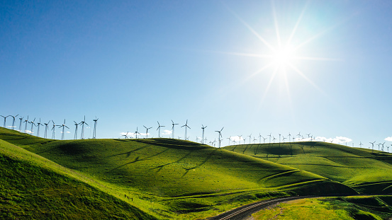 Environmental Conservation「Wind turbines, Altamont Pass, California, America, USA」:スマホ壁紙(3)