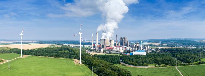 Generator「Wind turbine and coal power station」:スマホ壁紙(8)