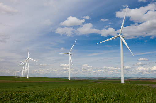 Rolling Landscape「Wind turbines at Snake River Wind Facility, Lower Snake River, Washington, USA」:スマホ壁紙(19)
