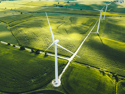 Environmental Conservation「wind turbine in iowa」:スマホ壁紙(13)