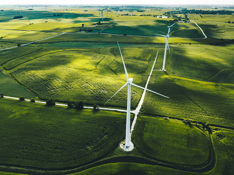 Generator「wind turbine field」:スマホ壁紙(15)