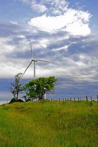 Bruce Peninsula「Wind Turbine In Country Setting, Tiverton, Bruce Peninsula, Ontario」:スマホ壁紙(7)