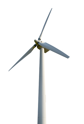 Propeller「Wind turbine isolated on white background」:スマホ壁紙(3)