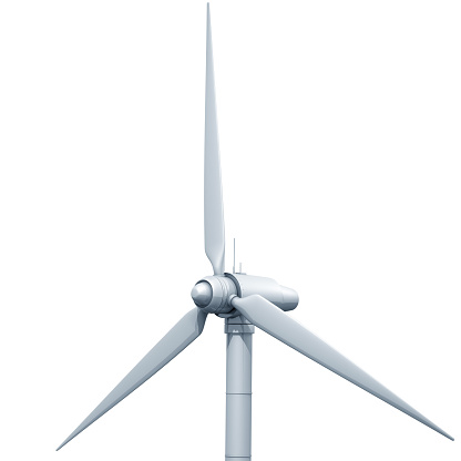 Wind Turbine「Wind turbine on white background」:スマホ壁紙(18)