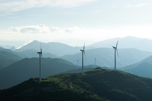Mill「Wind turbine at tea farm」:スマホ壁紙(1)