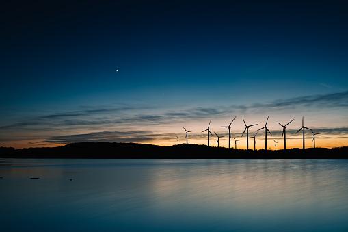 Generator「Wind turbines landscape sunset」:スマホ壁紙(7)