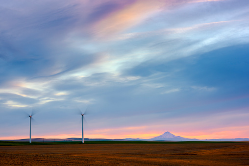 Generator「Wind Turbines with Mt Hood」:スマホ壁紙(6)