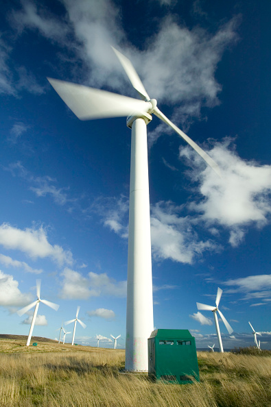 Greenhouse Gas「Wind turbines turning in the wind, on the moors above Burnley, Lancashire, UK」:写真・画像(12)[壁紙.com]
