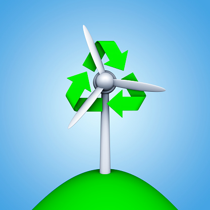 スクエア「Wind turbine and recycling symbol」:スマホ壁紙(9)