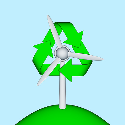 スクエア「Wind turbine and recycling symbol」:スマホ壁紙(10)