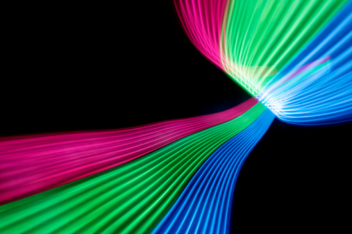 Light Trail「Multi colour abstract light trails」:スマホ壁紙(8)