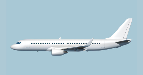 Airplane「Side of passenger jet airplane - easy to cut out.」:スマホ壁紙(19)