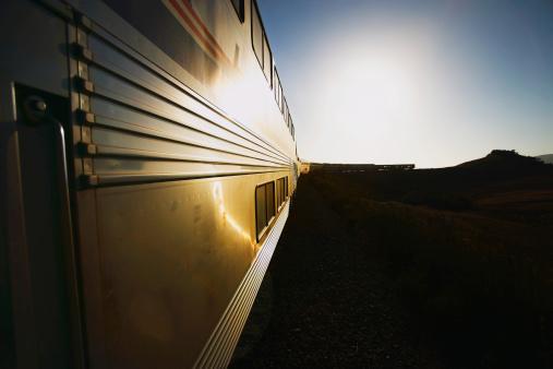 Passenger「Side of passenger train on coastal track, sunrise」:スマホ壁紙(14)