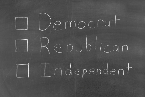 Voting Ballot「Vote Democrat Republican or Independent」:スマホ壁紙(6)