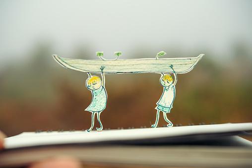 Paper Craft「Ship to carry」:スマホ壁紙(17)