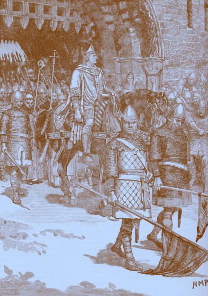 Recreational Horseback Riding「Bishop Odo's departure from Rochester, 1088」:写真・画像(6)[壁紙.com]