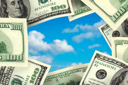 Economic fortune「business concept money frame」:スマホ壁紙(18)