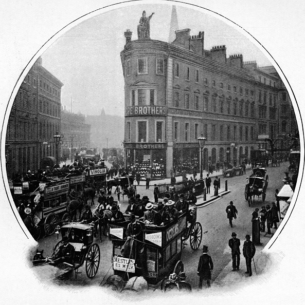Edwardian Style「Queen Victoria Street (junction with Cannon Street), City of London, c1903 (1903)」:写真・画像(11)[壁紙.com]
