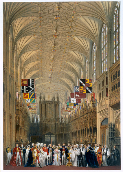 Ceiling「Queen Victoria And Prince Albert At A Service In St George's Chapel Windsor Castle 1838」:写真・画像(8)[壁紙.com]