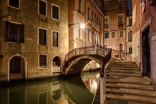 Steps and Staircases「Venice at night」:スマホ壁紙(2)