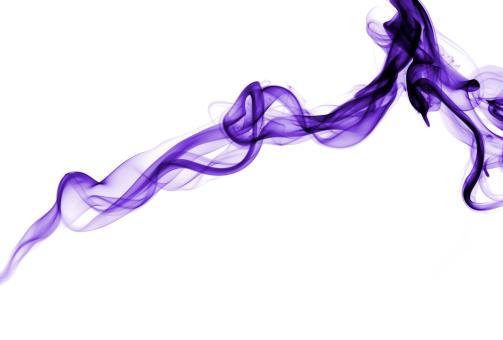 フラクタル「紫の煙に白いセグメント」:スマホ壁紙(19)