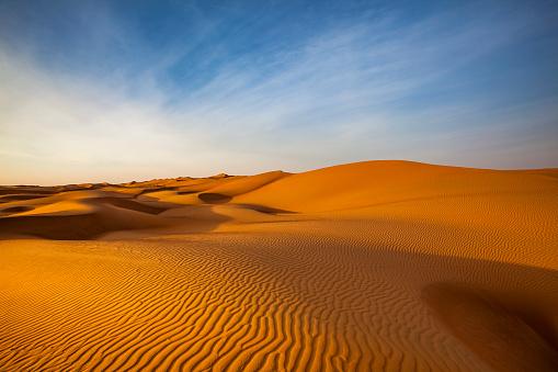 Dry「sand dune wave pattern desert landscape, oman」:スマホ壁紙(2)