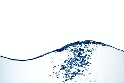 Sphere「Blue water wave with bubbles」:スマホ壁紙(8)