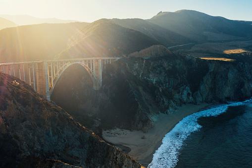 California State Route 1「Big Sur road and coastline aerial view road trip.」:スマホ壁紙(13)