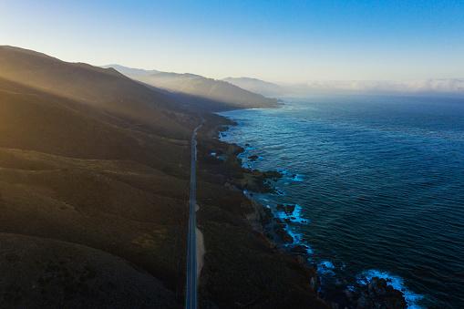 California State Route 1「Big Sur road and coastline aerial view road trip.」:スマホ壁紙(16)