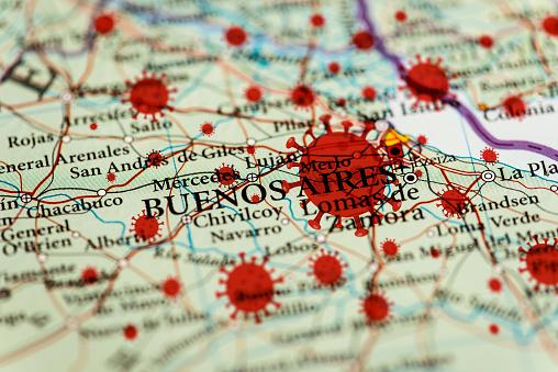 Buenos Aires「Coronavirus infection map, Buenos Aires」:スマホ壁紙(16)