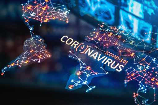 Illness Prevention「Coronavirus Outbreak on a World Map」:スマホ壁紙(14)